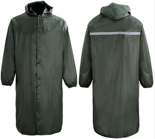 DQMSB Imperméable Adulte, Long Poncho, Convient aux Voyages en extérieur, Vert (Couleur   vert, Taille   L)