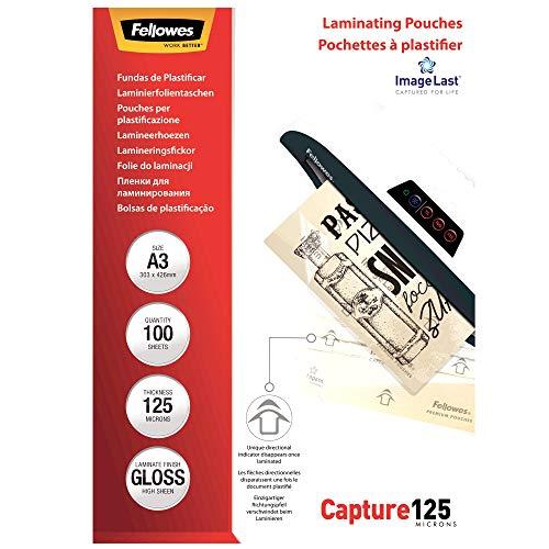 Fellowes ImageLast Laminierfolien 125 Mikron, DIN A3 (100er Pack)
