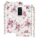 Ancase Funda de piel para Samsung Galaxy S7 Edge, diseño de flores de rosas