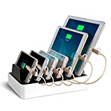 NexGadget 6-Port-USB-Ladestation Ladedock Multiport-USB-Universal-Ladestation Dockingstation 2-In-1...