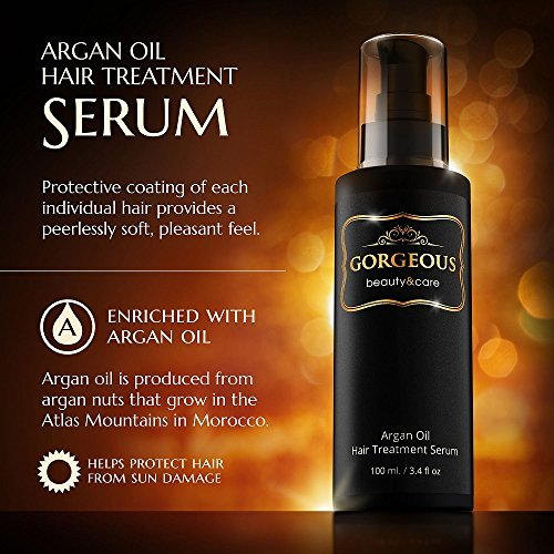 gorgeous best seller Argan Oil hair Treatment serum 3.4 fl oz new