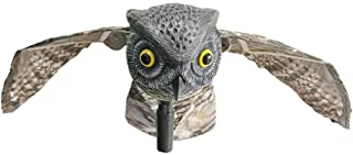 Blueyouth Garden Decoration, Hunting Bait Handle Owl with Wings Shaped Garden Decoration Can Deal with Garden Bird Pests About 66x100x26CM