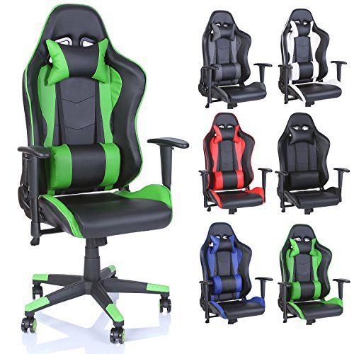 TRESKO® Silla de Escritorio Gamer Profesional | Silla de Oficina Ergonómica Gaming | Regulable, Re