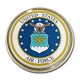 US Air Force Seal USAF Round Military Chrome Auto Emblem