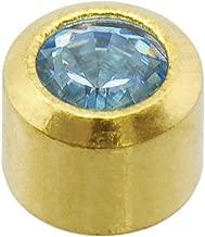 Caflon Blu 24 Carat Gold Plated March Mini Birthstone Studs