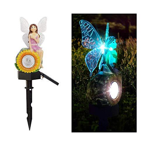 Lámpara De Energía Solar Jardín Al Aire Libre Luz De Calle Wisteria Flower Fairy