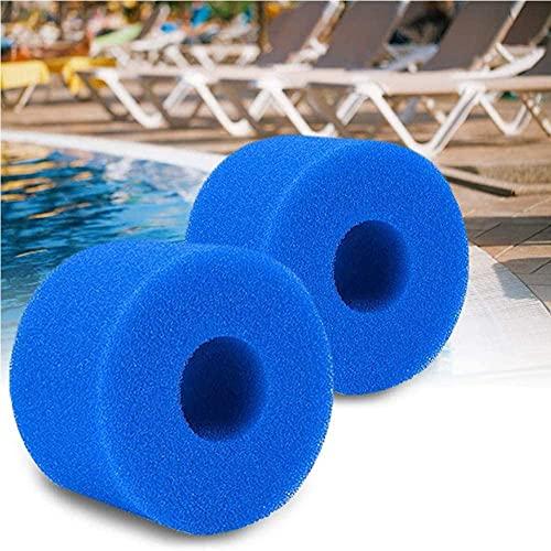 Zeako - 2 cartuchos de filtro de esponja para Intex tipo S1, filtro de spa lavable, esponja de filtro para spa, filtro de spa, filtro de spa, filtro de spa, filtro reutilizable