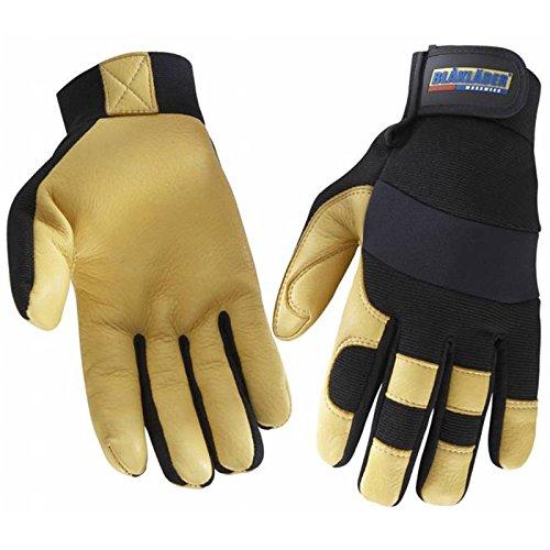 Blåkläder 223939239933 Leder Arbeitshandschuhe, schwarz / gelb, 10