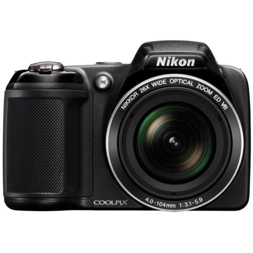 Nikon Coolpix L320 Digital Camera with 26x Optical Zoom - Black