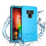 Galaxy Note 9 Waterproof Case | Underwater Full Body Dust/Snow/Shock Proof Hard Cover with Kick Stand for Samsung Galaxy Note9 (6.4'') |Touch ID Available | Access to All Functions (Blue)