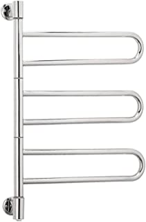 MIJOGO Heating Towel Rail Electric Heated Clothes Warmer Rack Free Standing Wall Mount Radiator Electric Towel Rail Warmer Radiator,Hardwiring