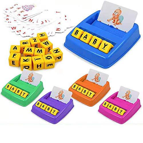 KUYG Kids Lernspielzeug Matching Letter Game Alphabet und Math Puzzle Game Brettspiel zum Erlernen des Zählens von Zahlen Rechtschreibung