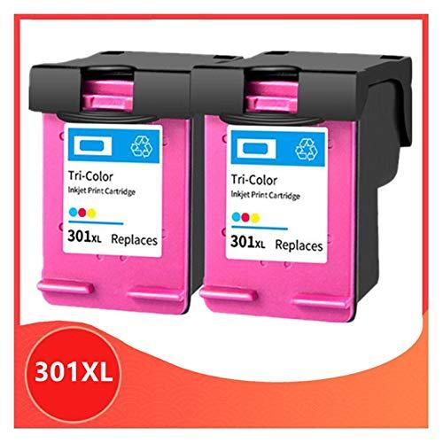 XIAOFANG Cabado de reemplazo para los Cartuchos de Tinta HP301 301XL Fit para HP 301 XL Deskjet 1000 1050 1510 2000 2050 2050s 2510 2540 3050A 3054 Impresora (Color : 2color)