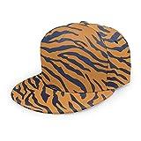Unisex Baseball Cap Tiger Animal Print Cool Adults Printed Caps Hats Adjustable Straight Brim Hat Black
