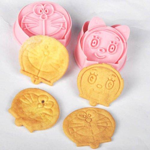 Kit para hacer bagels DIY para galletas Doraemon carcasa CAT-en forma de moldes para galletas, dos unidades