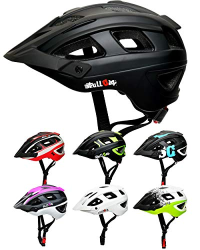 Skullcap® Fahrradhelm & MTB Helm + Visier für Herren & Damen (nightTRAIL, M (55-58 cm))