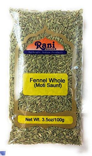 Rani Fennel Seeds (Saunf Sabut) Whole Spice 3.5oz (100g) All Natural ~ Gluten Free Ingredients | NON-GMO | Vegan | Indian Origin