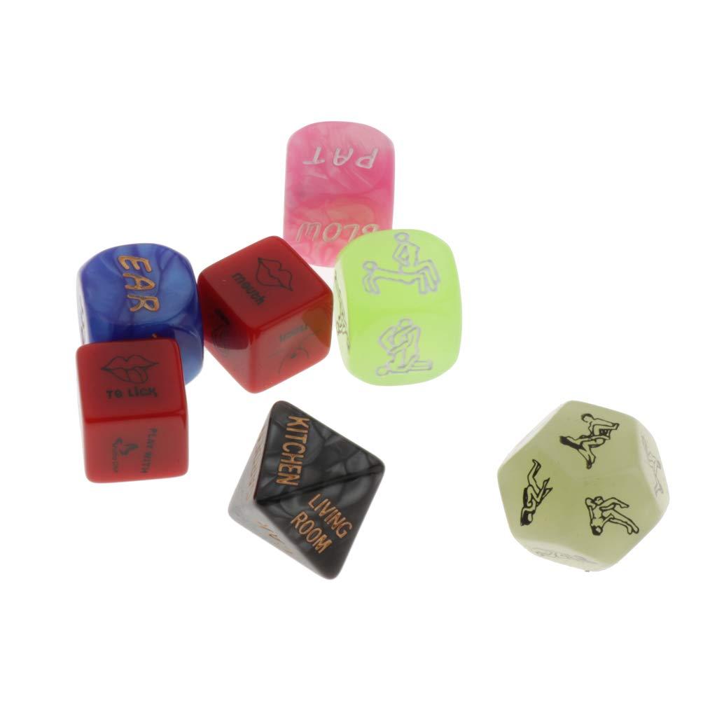 Baoblaze Juguete Dados Dice Game Dados Eróticos de Amor para Partido de Solo Adulto de Parejas - 6pcs Multicolor: Amazon.es: Juguetes y juegos