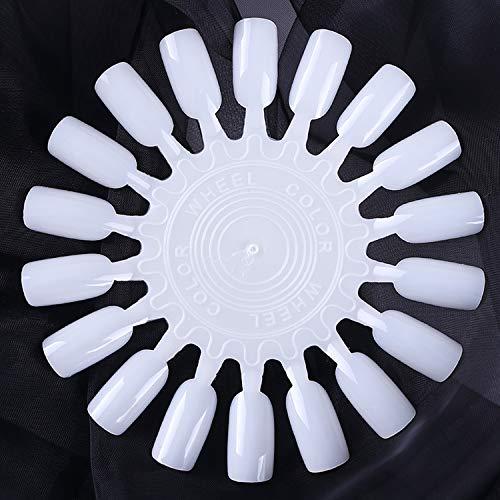 3d faux ongles 1 set faux ongles conseils nature clair noir ventilateur doigt pleine carte nail art affichage pratique acrylique uv gel polonais outil-18pcs-set 9-,
