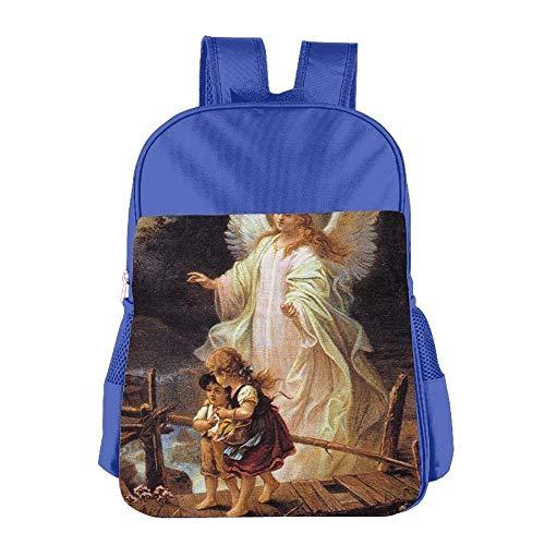 Guardian Angel With Children On Bridge Colegio Backpack Children Shoulder Daypack Kid Lunch Tote Pantalón RoyalBlue