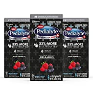 Pedialyte AdvancedCare Plus Electrolyte Powder, with 33% More Electrolytes and PreActiv Prebiotics, Berry Frost, Electrolyte Drink Powder Packets, 0.6 Oz (18 Count)