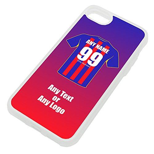 UniGift Coque de protection en TPU pour iPhone Motif club de football, couleurs au choix, TPU., claire, iPhone 8 / iPhone 7
