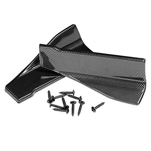 EBTOOLS Minigonne laterali auto universale Alettoni laterali per auto in fibra di carbonio da 35 cm minigonne laterali universali per auto/paraurti per paraurti con labbro del paraurti posteriore