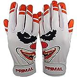 Primal Baseball ' Crazy Clown Baseball Batting Gloves (Adult Small)