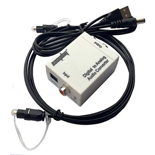 Easyday Toslink - Conversor de audio digital a RCA (cable óptico de 1,5 m)