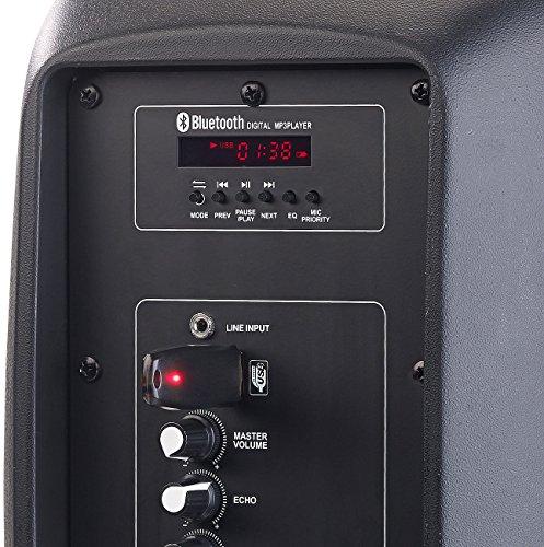 auvisio Mobile Partybox: Mobile PA-Partyanlage mit Bluetooth, MP3, USB, SD, 100 Watt, Karaoke (Mobile PA Anlage)