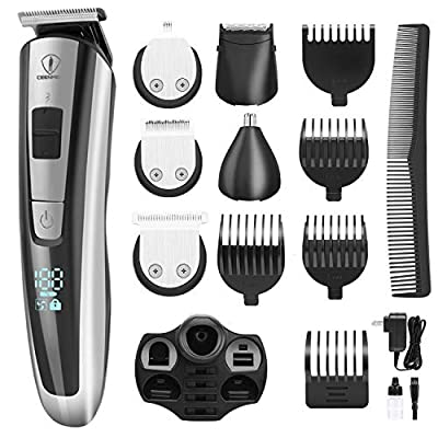 Ceenwes Grooming Kit Professional Beard Trimmer Portable Hair Clippers Hair Trimmer Mustache Trimmer Body Groomer Nose Hair Trimmer for Body Hairs