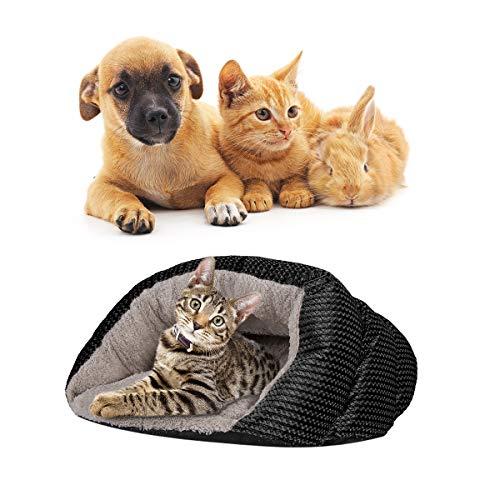 SunshineFace Katzenschlafsack Haustierschlafzone Warmes Gemütliches Haustierschlafbett Kuschelhöhle für Katzen Kleine Hunde