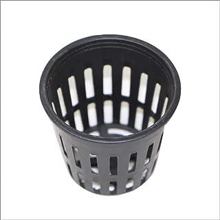 amzmonnsuta 20個入り 水耕栽培 プラスチック製 水耕 植栽 ネット メッシュ ポット ガーデン 植物育成 カップ バスケット かご鉢