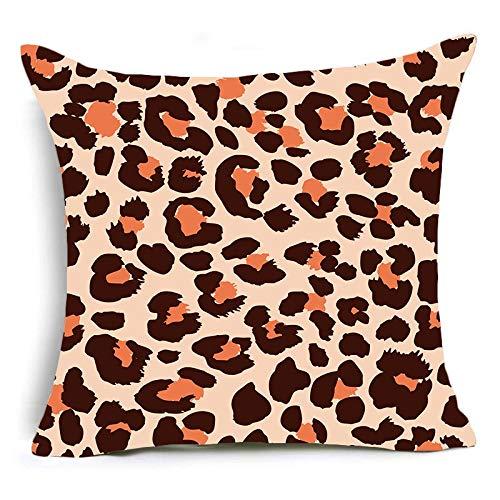 Funda de almohada con estampado de animales, estampado de leopardo, tigre, cebra, ganado, funda de cojín de serpiente, funda de almohada decorativa para sofá de casa, funda de cojín A6 45x45cm 1pc