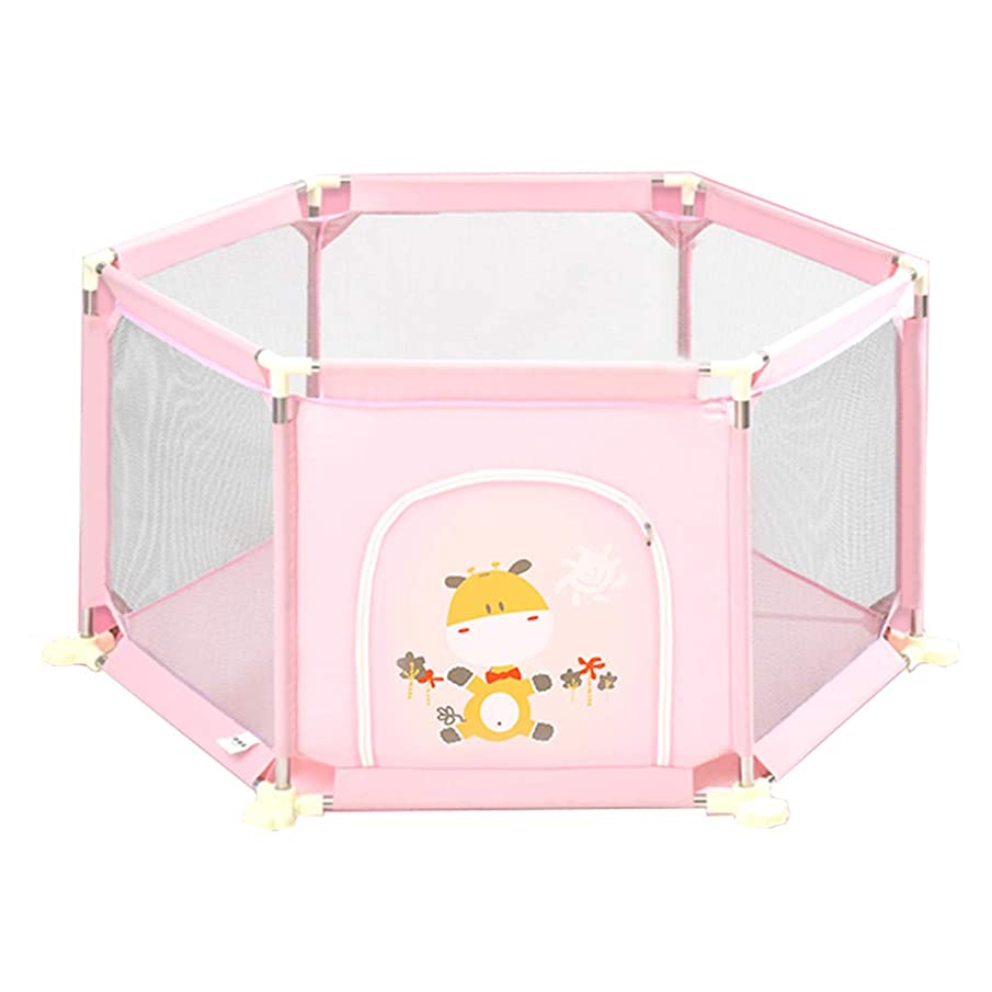 1229 GAIXIA Baby Fence Play Children Activity Center Safety Playground Home Interior (Color : Pink)