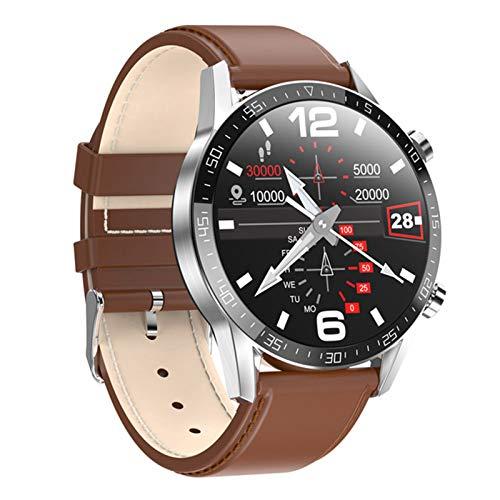 Smart Watch, L13, Hombres De Negocios, Llamada Bluetooth, Pantalla De Círculo Completo De 1,28 Pulgadas, Reloj De Hombre ECG Presión Ritmo Cardíaco Fitness Ejercicio,B