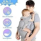 Lictin Baby Carrier Baby Carrier 3,5-20kg pou Newborn 6 nan 1 ergonomic Baby Carrier pou tout sezon ak CE Sètifikasyon.