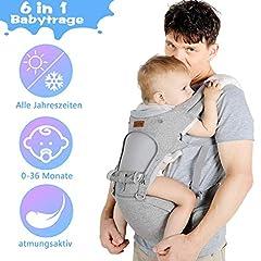 Porte-bébé porte-bébé Lictin 3,5-20kg pour les nouveau-nés 6 en 1 civière ergonomique pour toutes les saisons avec la certification CE