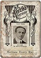 Bf Keith's Theatre Houdini Magic Mystery 金属板ブリキ看板警告サイン注意サイン表示パネル情報サイン金属安全サイン