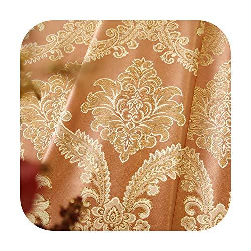 La mejor cortina opaca europea: cortinas para salón comedor o dormitorio, cortinas de oro, cenador burnano, W300 x 260 cm, Grommet Top