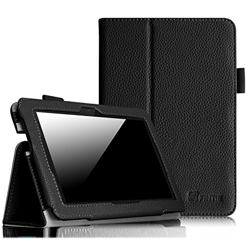 Fintie Folio Case for Fire HDX 7 - Slim Fit Leather Standing Protective Cover with Auto Sleep/Wake (Will only fit Kindle Fire HDX 7' 2013), Black