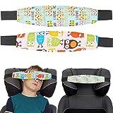 Kindersitz Kopfhalter, süßes Design für Mädchen, 2 Pack, Einstellbare Laufställe, Schlaf Stellungsregler für Kindersitz, Kinderwagen, Kopf Halter für Autofahrt, Autositz Befestigung...