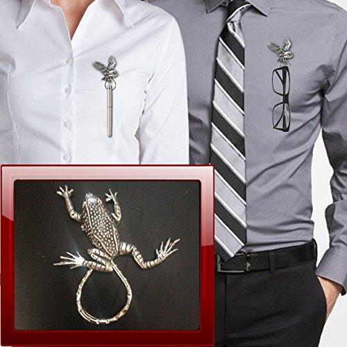 Leaping Frog C11 - Broche de aro para gafas, bolígrafo, identificación, joyería de peltre