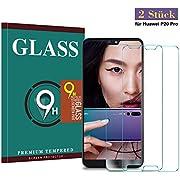 Panzerglas Schutzfolie für Huawei P20 Pro,Zaibuy Hohe Qualität Gehärteter Schutzfolie [2 Stück] [Anti Fingerabdruck] [Anti-Kratzen] [HD klar] [Blasenfrei] [Einfache Installation] Gehärtetes Glas Displayschutzfolie für Huawei P20 Pro