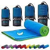 Fit-Flip Reisehandtuch Set – in Allen Größen / 18 Farben – Ultra leicht & kompakt – das...