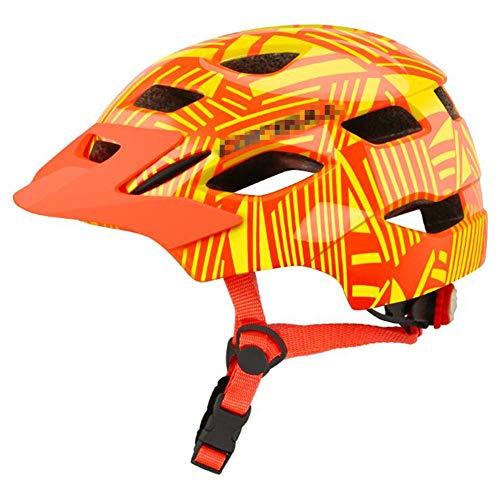 Pkfinrd Mountainbike Helm fahrradhelm sportschutzhelm 16 Vents komfortabler Leichter atmungsaktiver Helm für Jungen und mädchen@Orange_S-M (50-57 cm)