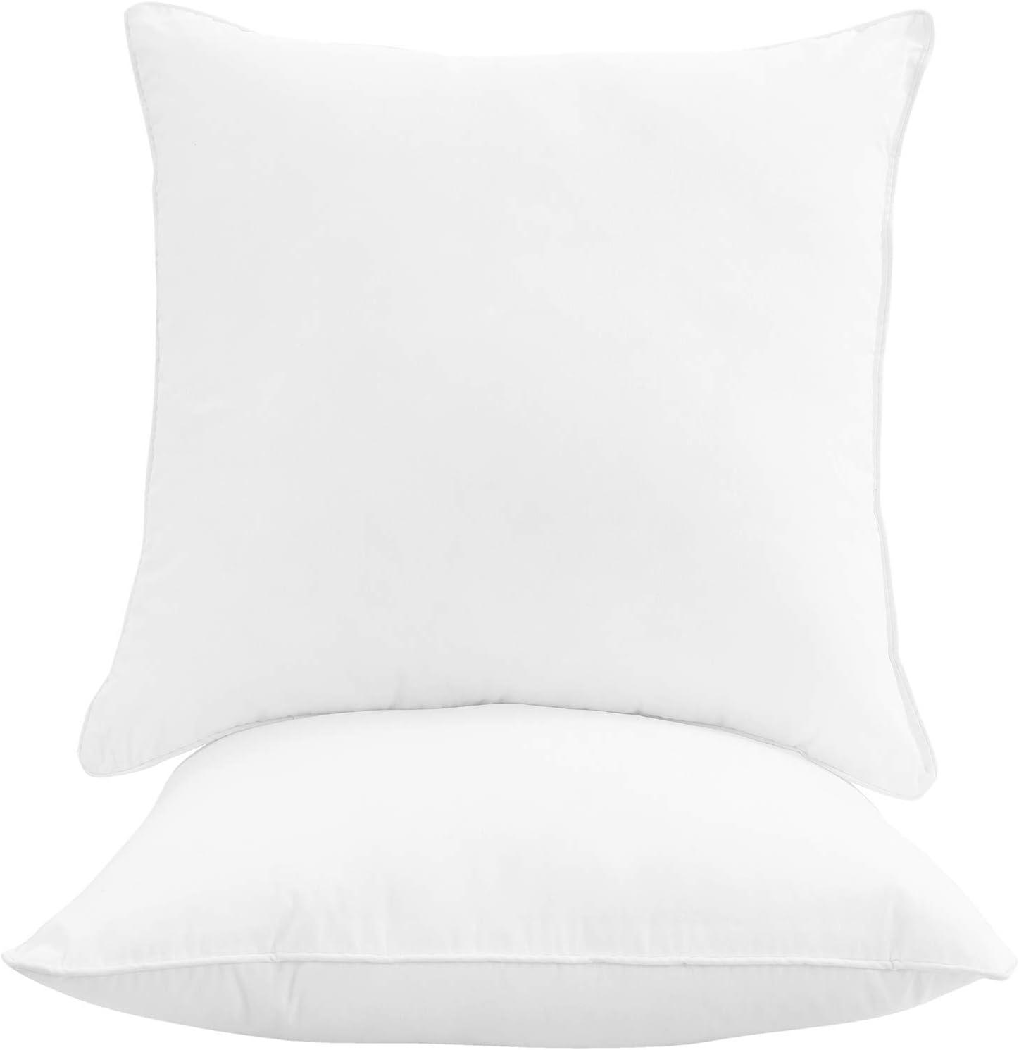 Oakias In stock Set of Branded goods 2 Throw Pillow – White 12 Cotton x Inserts