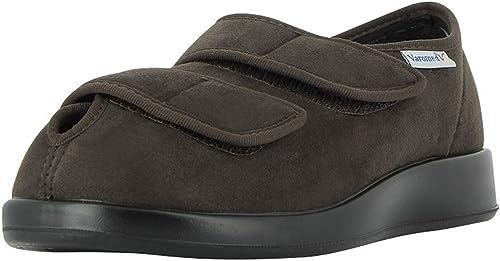 Varomed Garmisch 60930 Mixte Adulte Femme,Homme Chaussure Velcro,Chaussure Velcro,Chaussure de santé,Velcro,Confortable,sans Pression,Variable,Mocca,46 EU  magasin d'usine