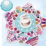 NINI Kit de Maquillaje niñas, Bricolaje Juego de Roles Cosméticos, Maquillaje hidrosolubles Partido Certificationbirthday Seguridad de los Juguetes Regalo Educativo
