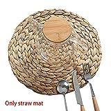 Weave Platzsets, Strohgeflecht, Wasserhyazinthe Weave Platzsets, Untersetzer, Küchenutensilien, Tischsets, 4 Packungen - 4